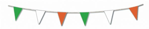 Irish Bunting Triangle 20 flags on 10m Ireland Saint Patrick's Day